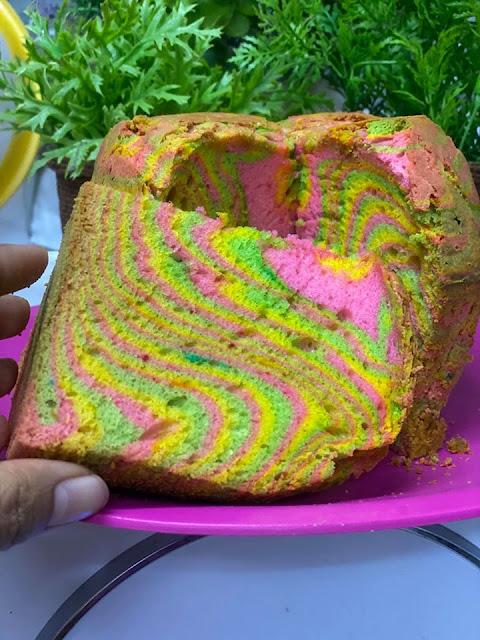 sponge kek yang gebu dan fluffy