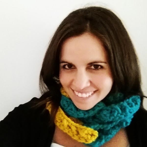Cuello Bufanda tipo Cadena a Crochet