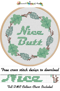 Nice Butt free bathroom cross stitch pattern