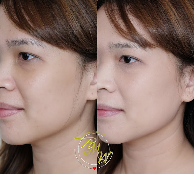 before and after photo of Kate The Base Zero Powdery Skin Maker Foundation Review by Nikki Tiu of www.askmewhats.com