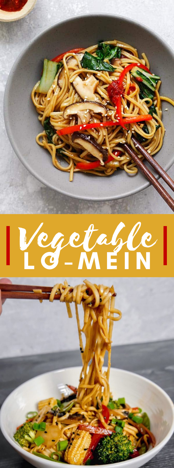 VEGETABLE LO MEIN #vegetarian #lunch