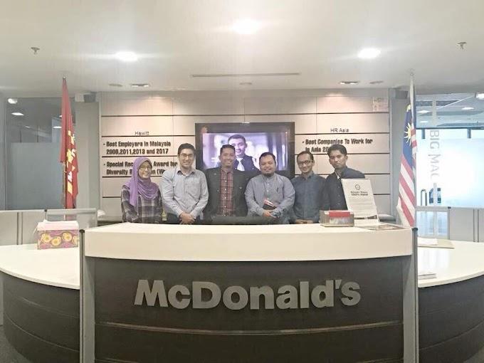 Hasil Pertemuan #UstazZulPandan dengan Gerbang Alaf Restoran (Mcdonald Malaysia)