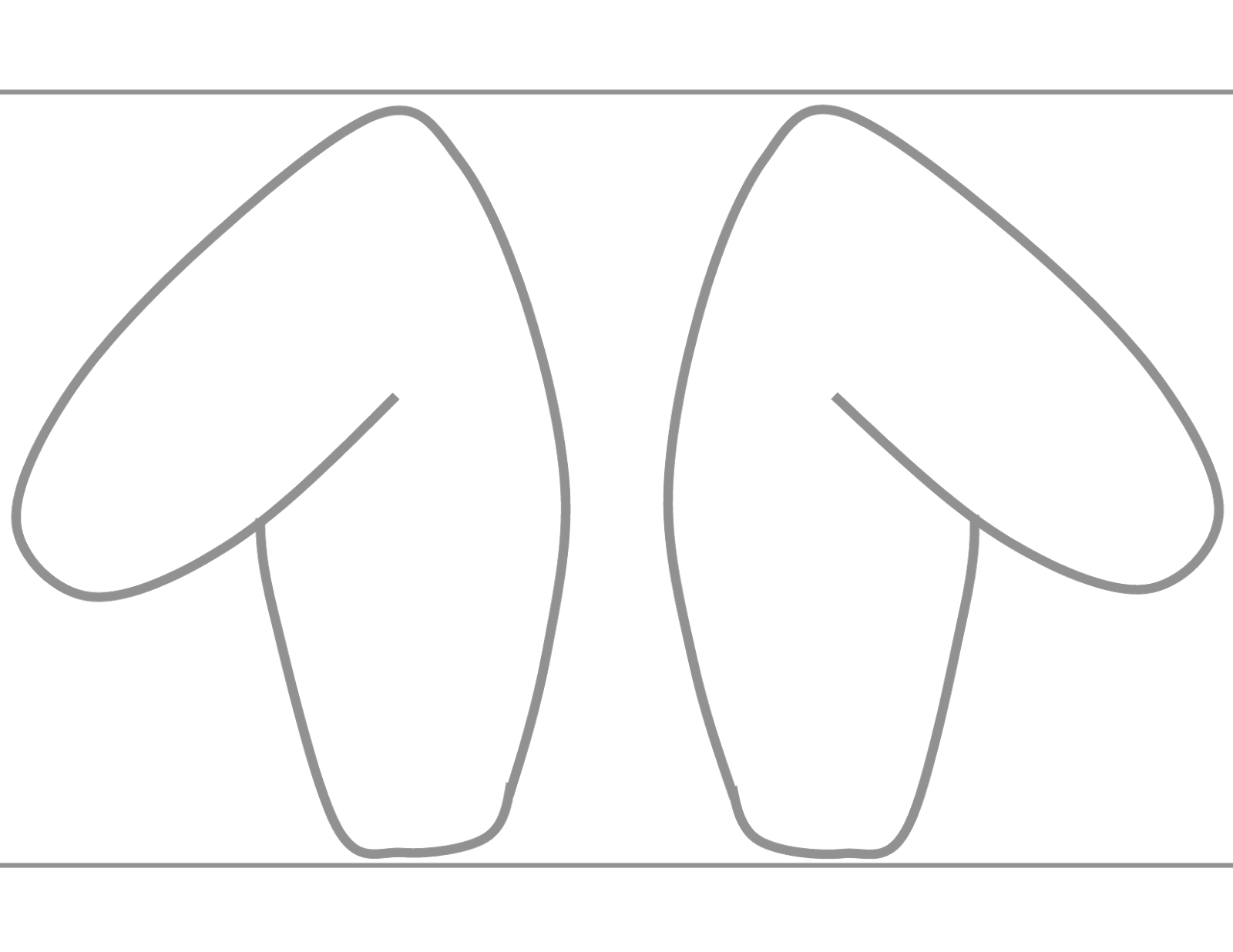 The Mamazone Free Printable Rabbit Ear Template