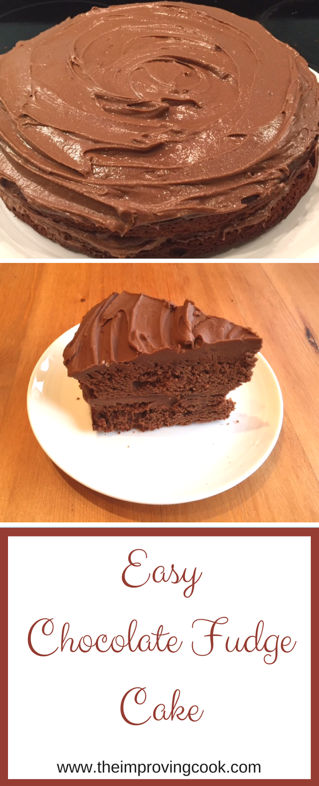The Improving Cook: Easy Chocolate Fudge Cake