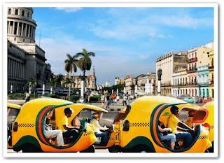 Coco Taxi di Kuba