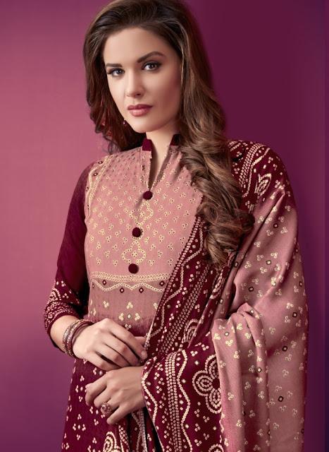 Levisha Zareen Pashmina Winter Salwar kameez