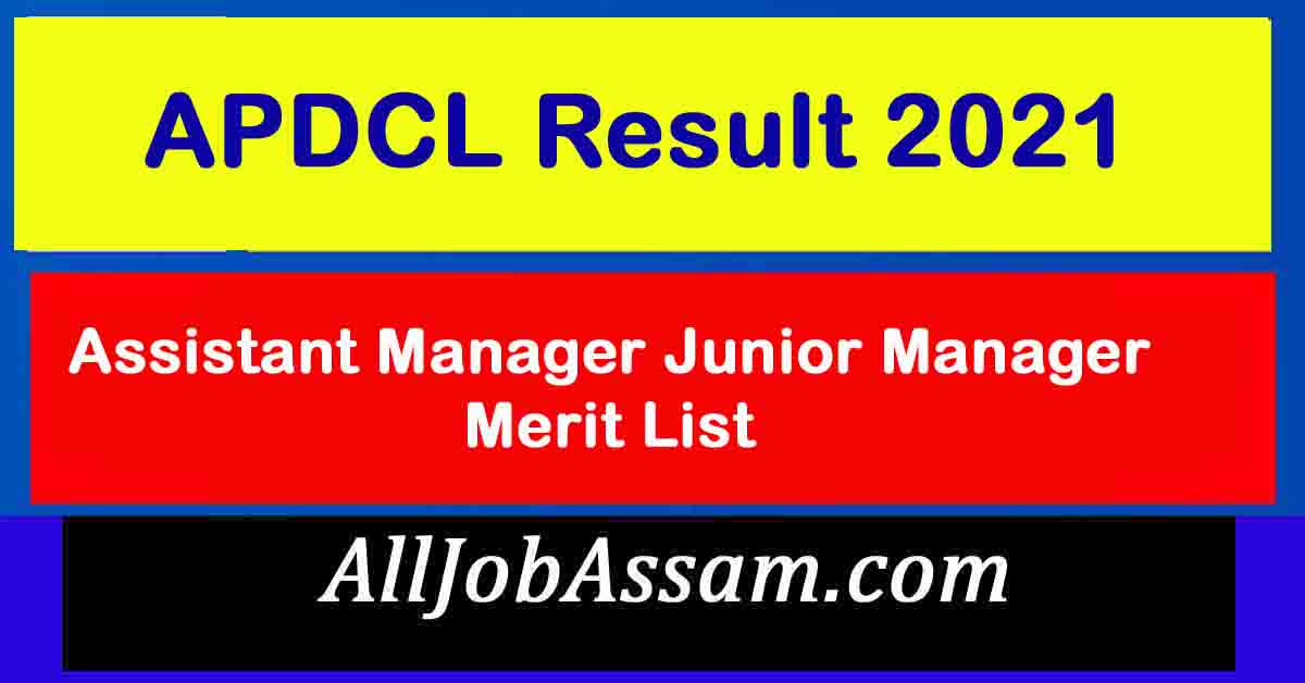 APDCL AM and JM Result 2021