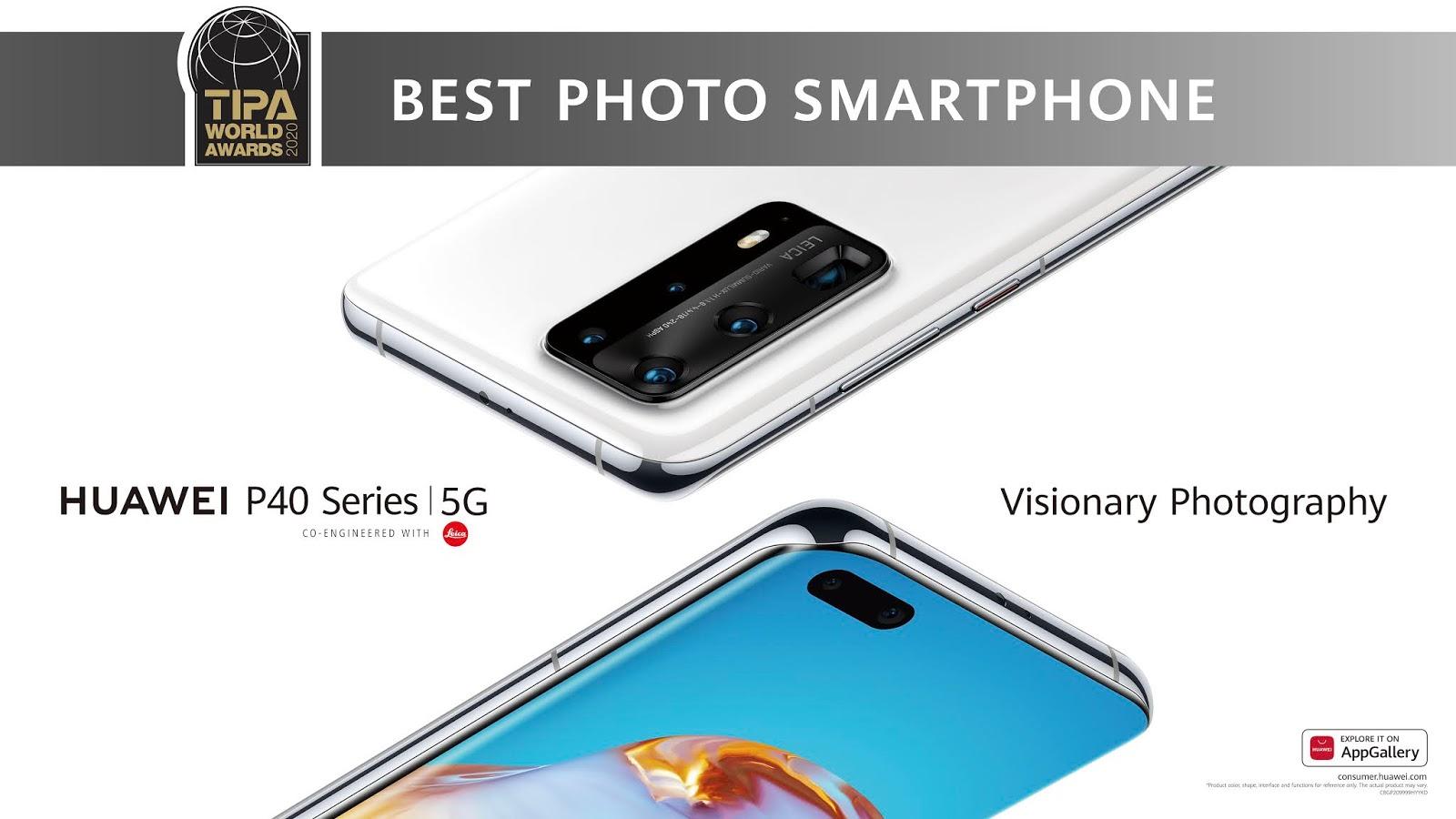 Tipa reconoce a la serie P40 de Huawei como el mejor smartphone para fotografía del 2020