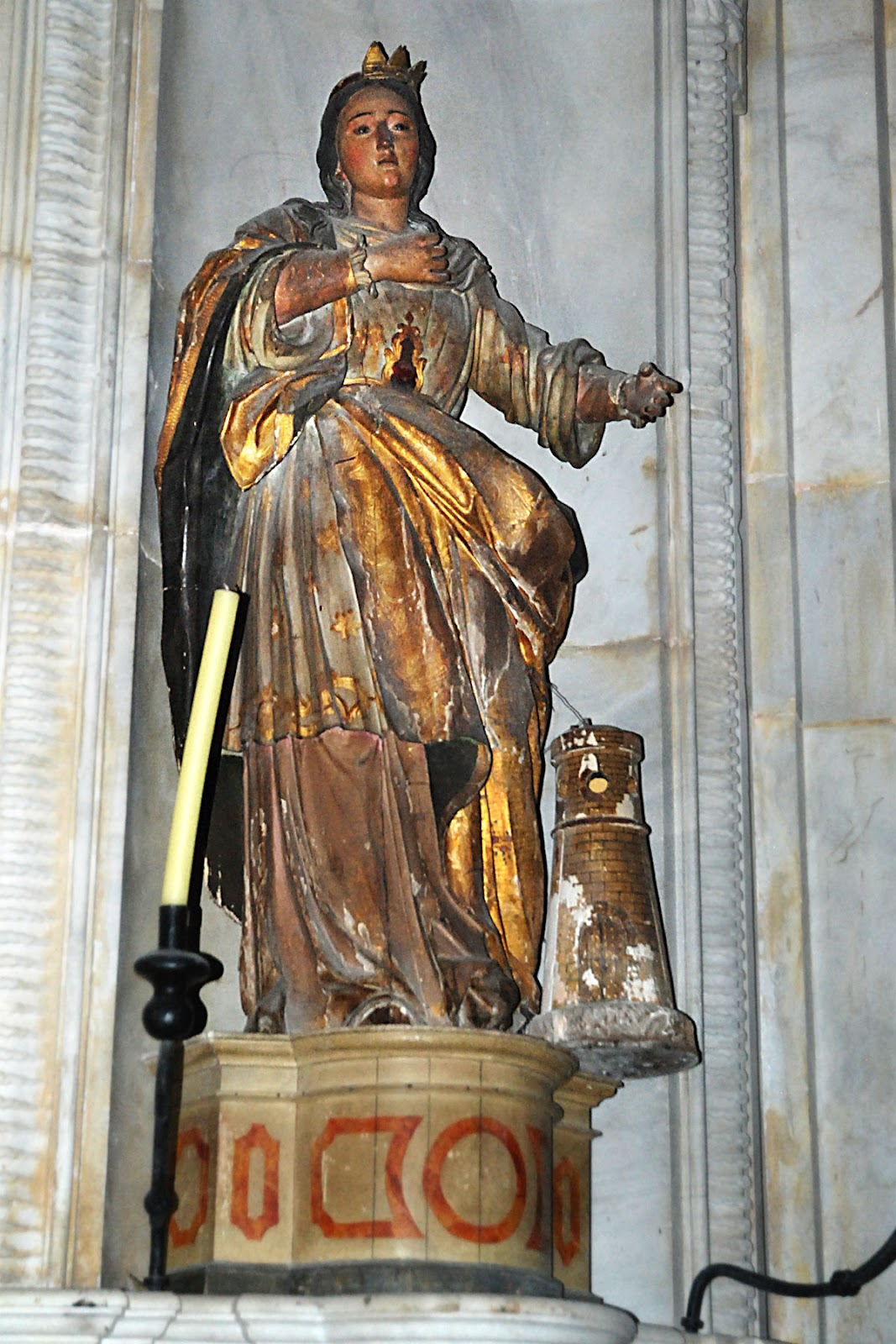 Santa Bárbara de la catedral de Cádiz
