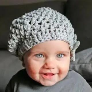 Boina de Bebé a Crochet