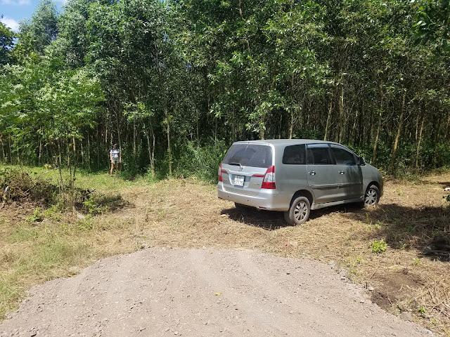 Lần đầu tiên xe oto đã vào được rừng