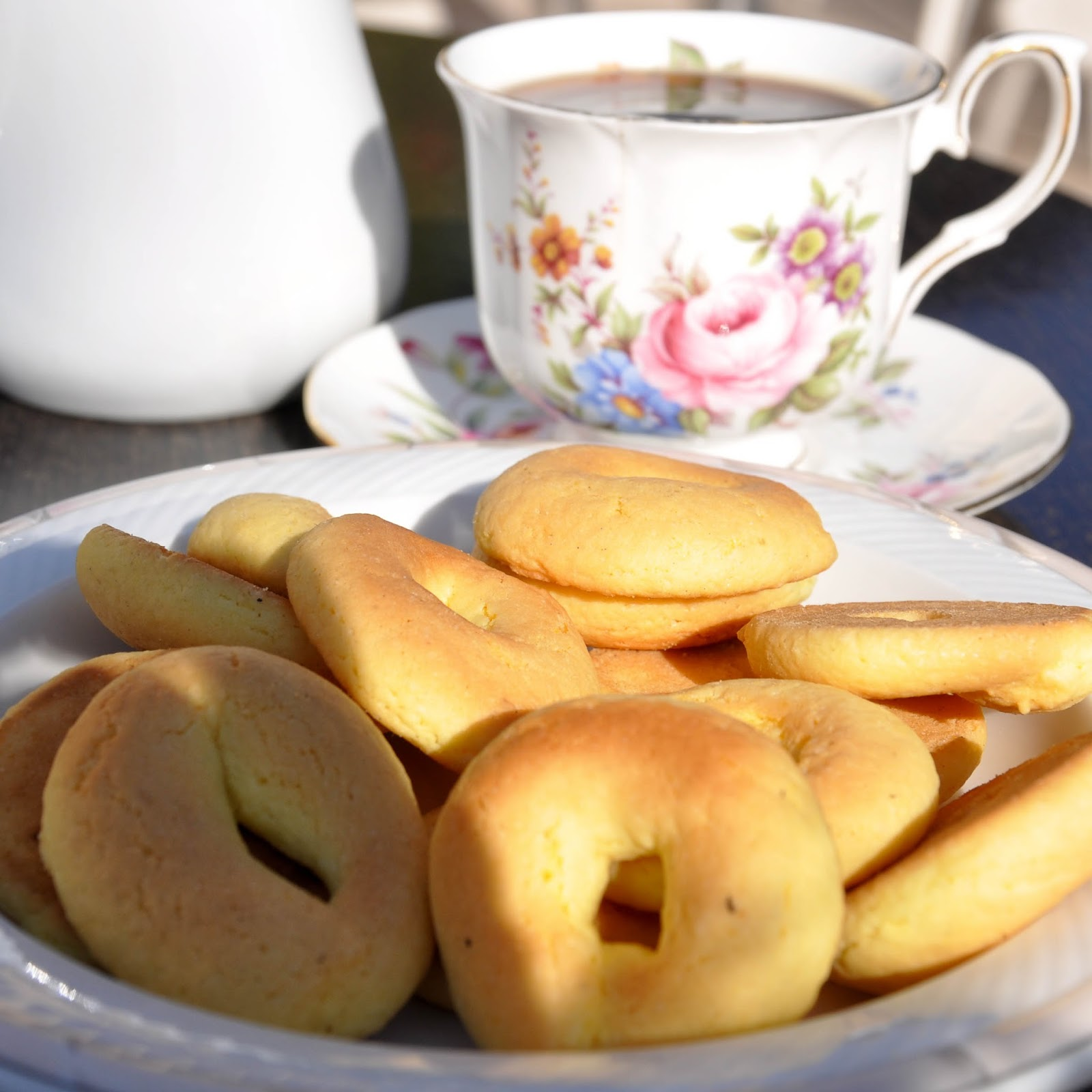 Homemade biscuits served with coffee, Agriturismo La Borina, Veneto, Italy