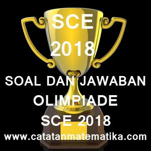 Soal dan Jawaban Olimpiade SCE 2018 USU