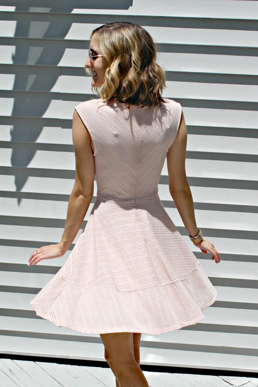 bar iii flare dress