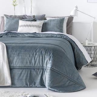 Colcha Bouti modelo Baker color Azul de Antilo Textil