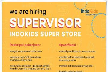 Lowongan Kerja Supervisor Indokids Super Store