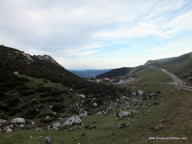 llegada a los lagos de Covadonga