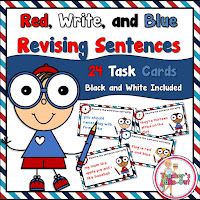 Red Write and Blue Editing Sentences