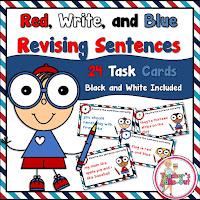 Red WRITE and Blue Revising Sentences