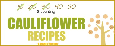 Tired of the same-old albeit wonderful roasted cauliflower? Find new inspiration in this collection of Cauliflower Recipes ♥ AVeggieVenture.com. Many Weight Watchers, vegan, gluten-free, low-carb, paleo, whole30 recipes from everyday to good for company.
