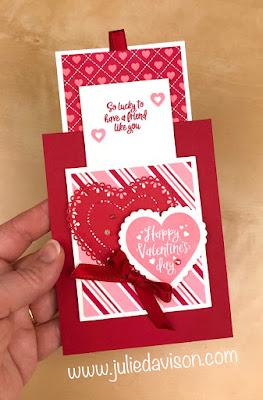 Stampin' Up! Heartfelt Valentine Double Slider Card ~ 2020 Spring Mini Catalog ~ Valentine's Day ~ www.juliedavison.com