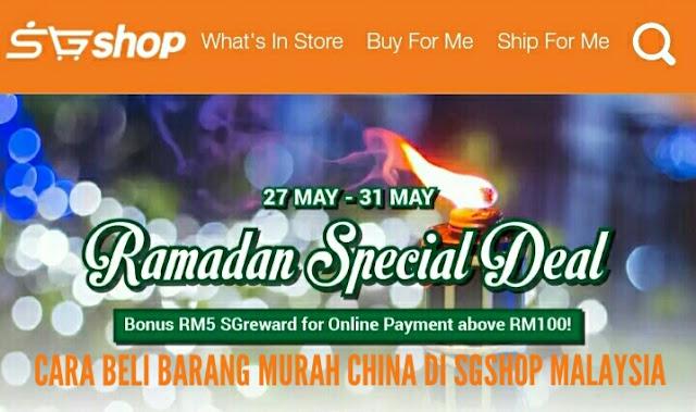 Cara Beli Barang Murah China Di SGshop Malaysia