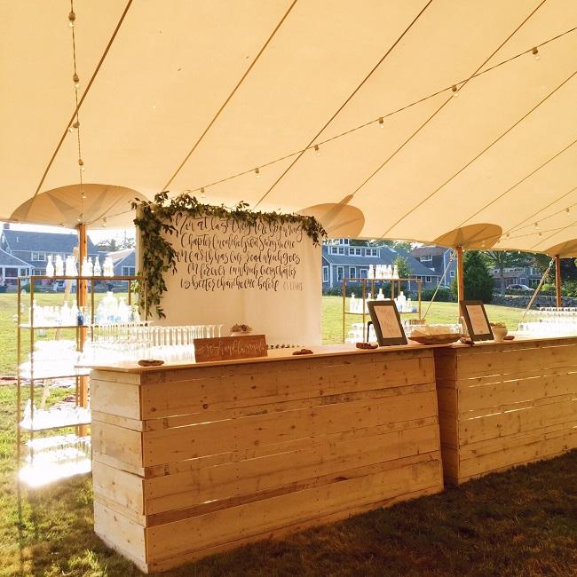 Our DIY Wedding Bars | Mac & Marlborough