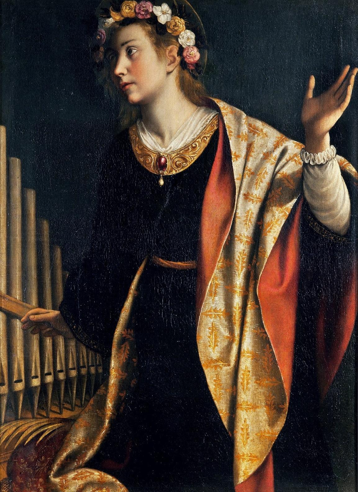 Orazio Lomi Gentileschi  E   Saint Cecilia