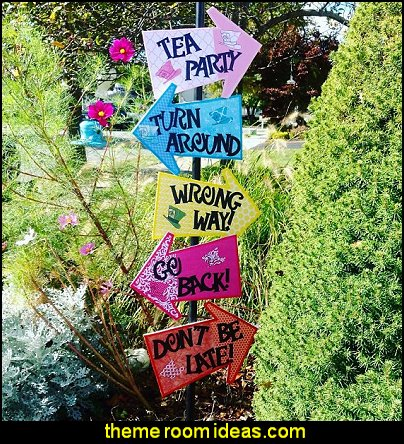 Alice in Wonderland Arrow Signs Alice in Wonderland garden party tea party birthday party