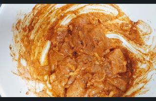 Marinated chicken pieces for mozzarella chicken kebab recipe