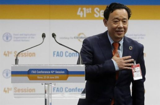 Eligen a viceministro chino Qu Dongyu al frente de la FAO