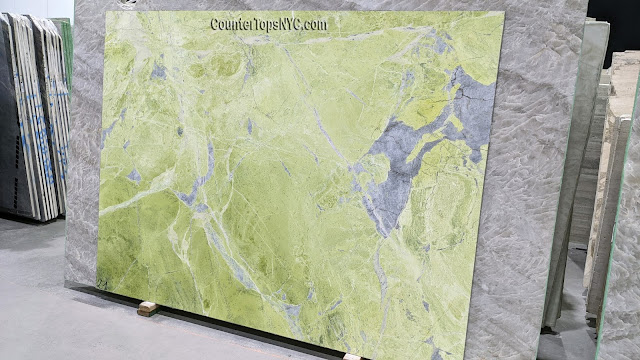 Verde Ming Light Green Marble Slab NYC