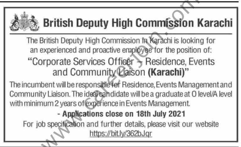 British Deputy High Commission Jobs 2021 in Pakistan