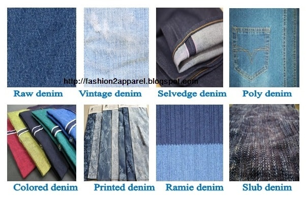 Different types of denim fabric