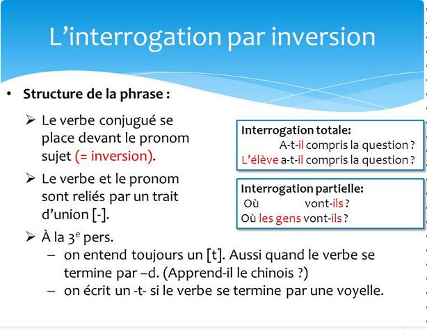 Zdania i pytania - pytania przez inwercję 3 - Francuski przy kawie