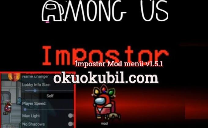 Among Us Impostor Mod menü v.1.5.1 Çalışan Hile İndir 2020 Androıd + PC İndir