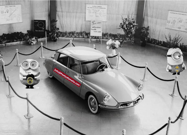 Citroen DS was produced since 1955 until 1975, also French Presidents De Gaulle and Pompidou ultimate driver's car.