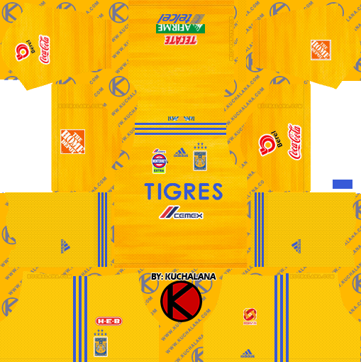 Tigres UANL 2019/2020 Kit - Dream League Soccer Kits