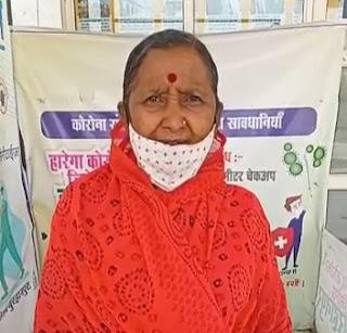 बहादरपुर निवासी श्रीमती शकुंतला बाई ने कोरोना के प्रति दीया जागरूकता संदेश