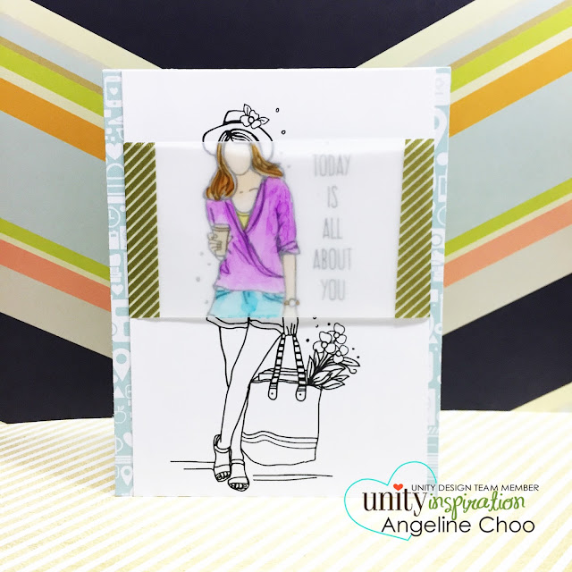 ScrappyScrappy: Partial Vellum Coloring #scrappyscrappy #unitystampco #youtube #video #quicktipvideo #card #cardmaking #copic #stamp #stamping #vellum #washi