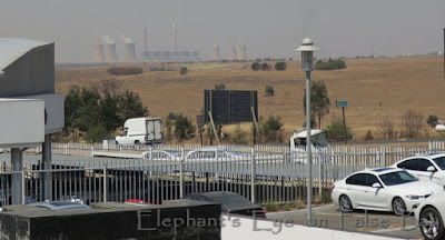 Witbank coal fired power station  BMW took us across to the shopping mall while they charged our car