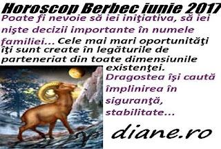Horoscop iunie 2017 Berbec