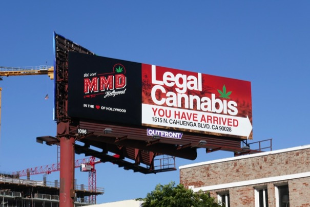 MMD Hollywood Legal Cannabis billboard