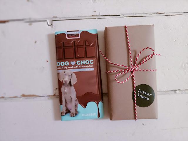 Dog Choc beterschap hond verjaardag hond cadeau pakket
