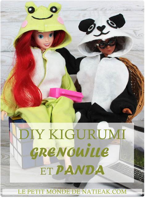 DIY Kigurumi Barbie Panda et grenouile