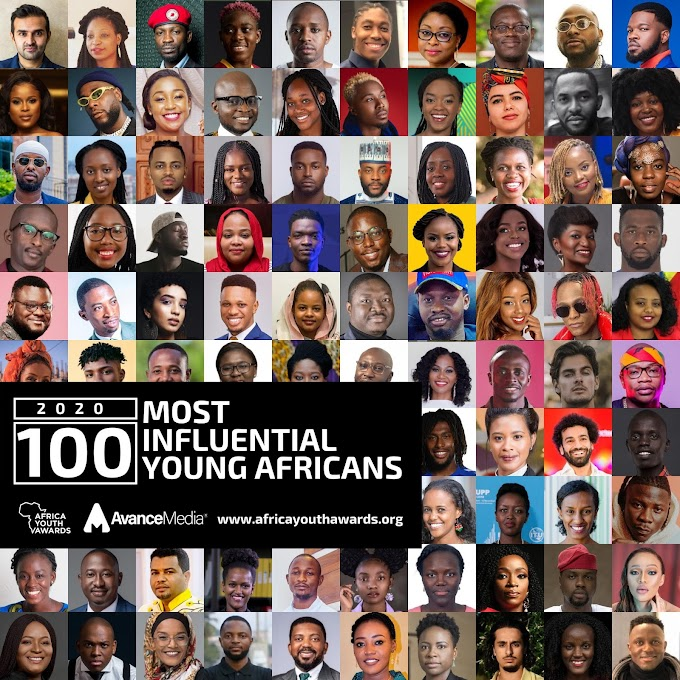 100 Most Influential Young Africans list of 2020 announced