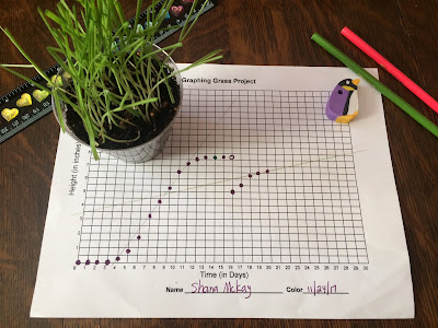 My favorite math project of all time is this graphing grass math project