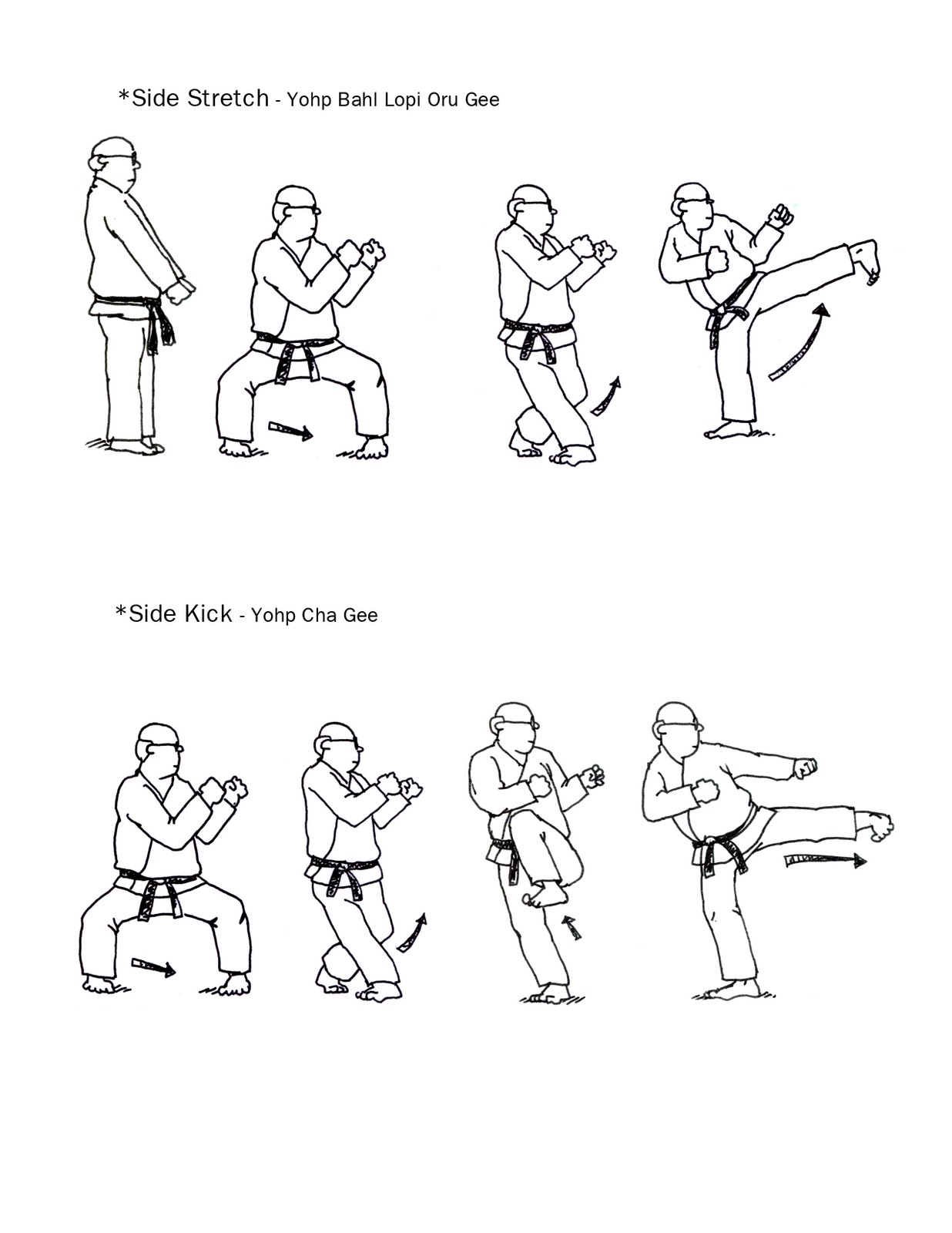 Karate Worksheet