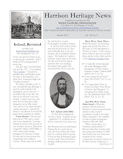 Deja Vu All Over Again Revisited Once >> My Harrison County The Harrison Heritage News For March Vol 18