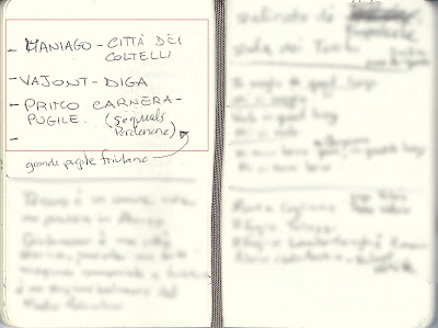 A sample of Italian writing, stampatello.